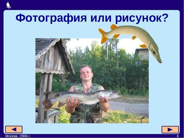 Москва, 2006 г. * Фотография или рисунок? Москва, 2006 г.