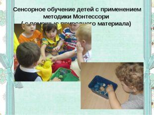Сенсорное обучение детей с применением методики Монтессори ( с помощью природ