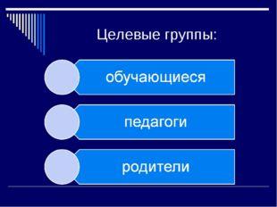 Целевые группы: