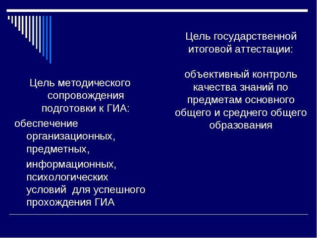 Цель государственной итоговой аттестации: объективный контроль качества знани...