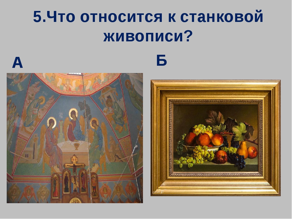 5.Что относится к станковой живописи? А Б
