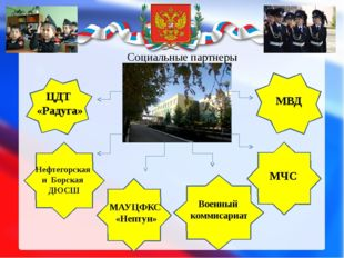 Социальные партнеры Нефтегорская и Борская ДЮСШ ЦДТ «Радуга» МАУЦФКС «Нептун»
