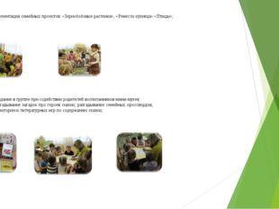 9. Презентация семейных проектов: «Зернобобовые растения», «Ремесло кузнеца»
