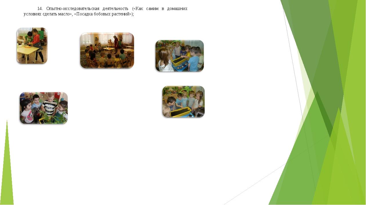 14. Опытно-исследовательская деятельность («Как самим в домашних условиях сде...