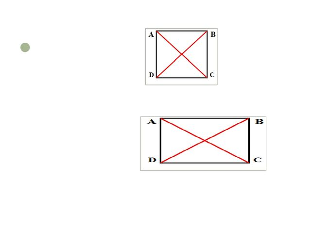 The diagonals of a rectangle and a square are equal
