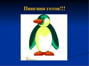 Пингвин готов!!!