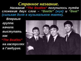 """Странное название. Название """"The Beatles"""" получилось путём сложения двух слов"""