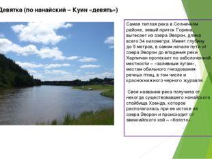 Река Девятка (по нанайский – Куин «девять») Самая теплая река в Солнечном рай