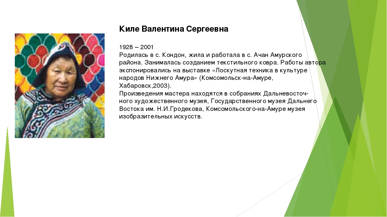 Киле Валентина Сергеевна 1928 – 2001 Родилась в с. Кондон, жила и работала в...