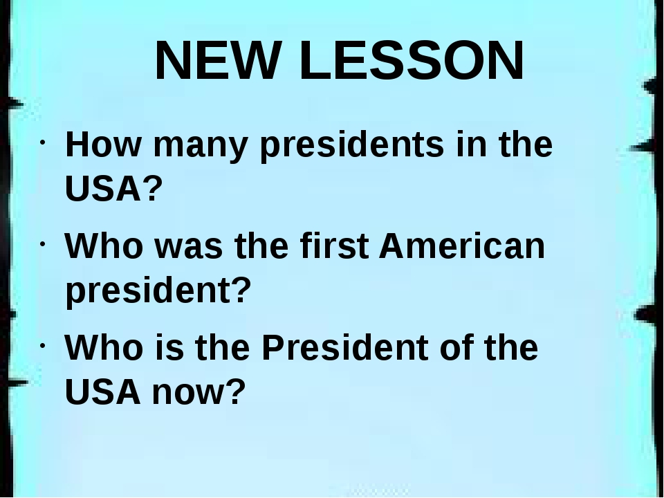 NEW LESSON How many presidents in the USA? Who was the first American presid...