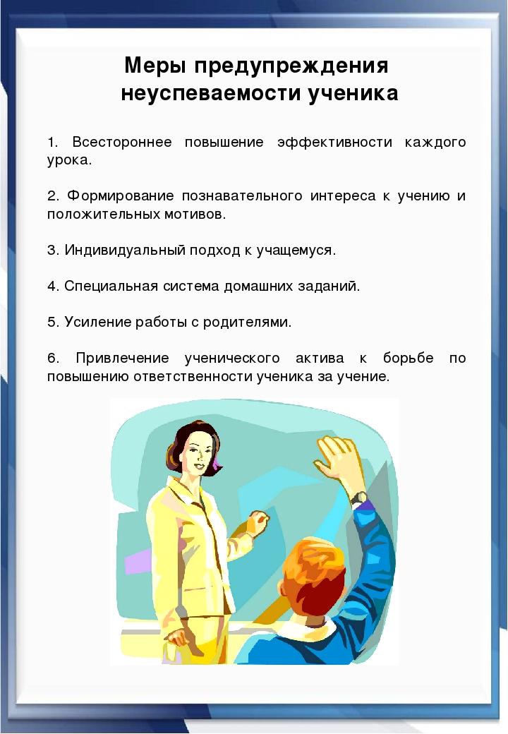 Меры предупреждения неуспеваемости ученика 1. Всестороннее повышение эффекти...