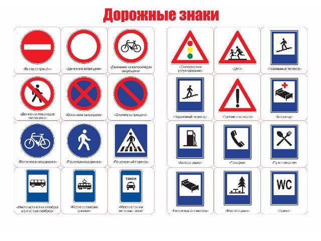 Информационно-указательные знаки ?