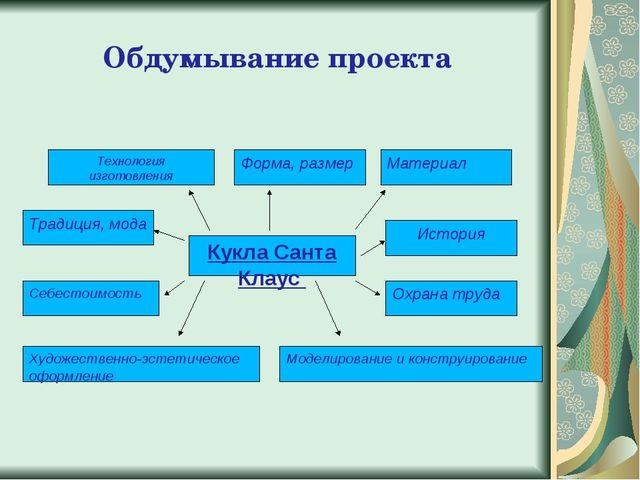 Обдумывание проекта Технология изготовления Моделирование и конструирование О...