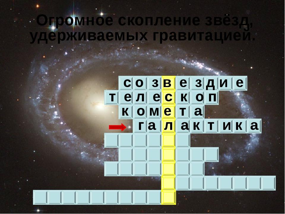 Огромное скопление звёзд, удерживаемых гравитацией. с о з в е з д и е т е л...