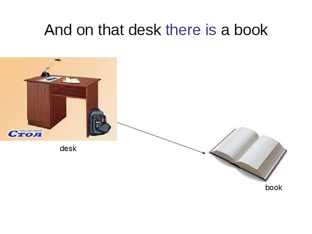 And on that desk there is a book desk book