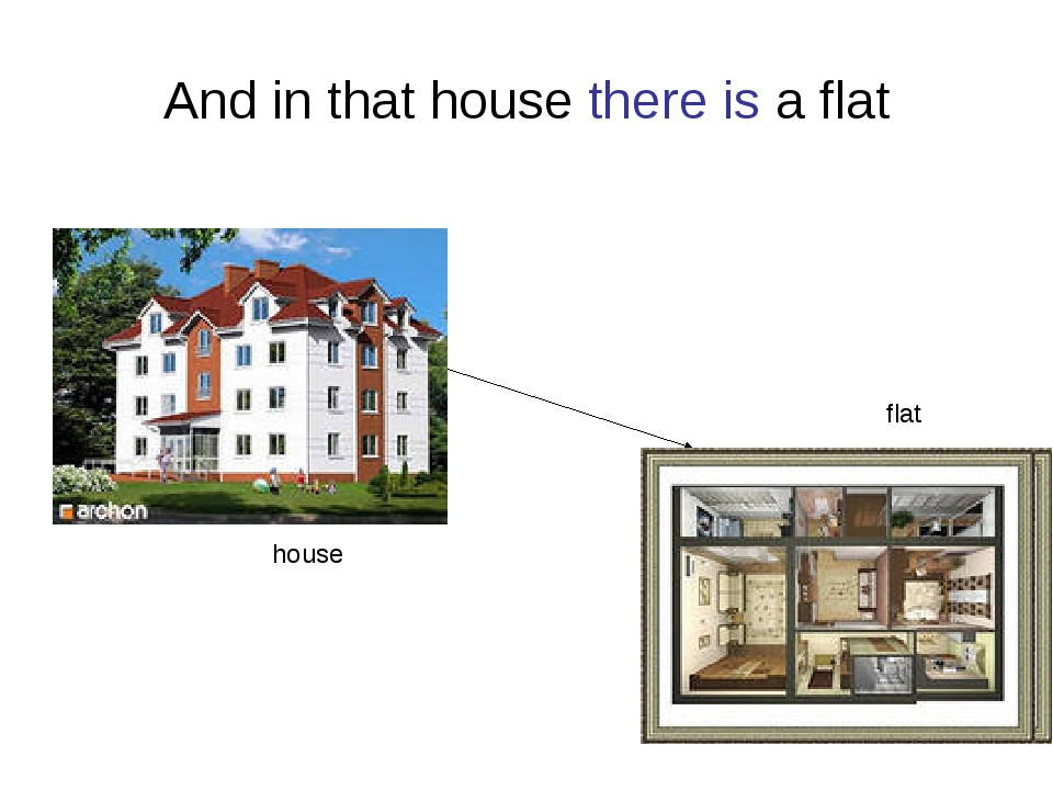 And in that house there is a flat house flat