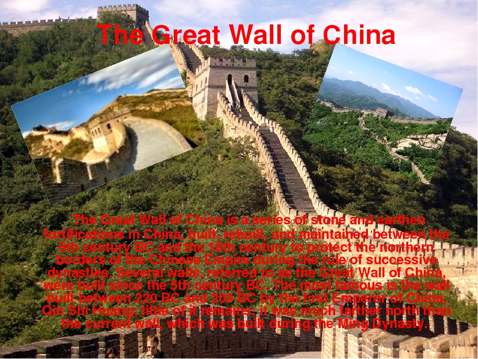 The Great Wall of China is a series of stone and earthen fortifications in C...