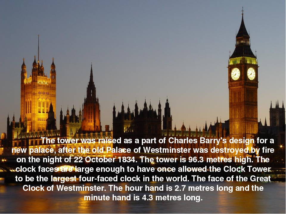 The tower was raised as a part of Charles Barry's design for a new palace, a...