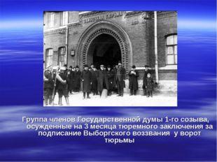 Группа членов Государственной думы 1-го созыва, осужденные на 3 месяца тюремн