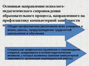 Основные направления психолого-педагогического сопровождения образовательного