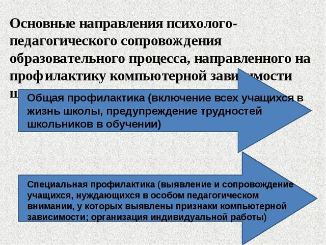 Основные направления психолого-педагогического сопровождения образовательного...