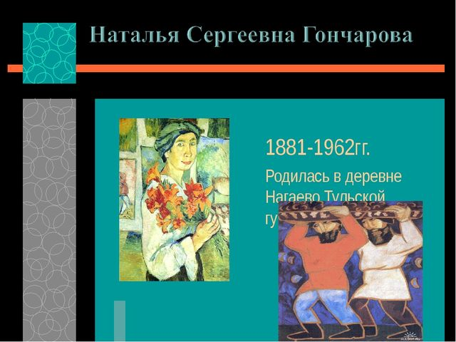 1881-1962гг. Родилась в деревне Нагаево Тульской губернии.