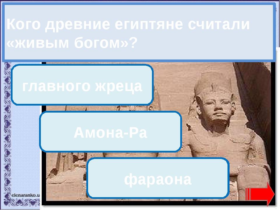 Переход хода! Переход хода! главного жреца Амона-Ра Молодец! фараона Кого дре...
