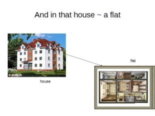 And in that house ~ a flat house flat