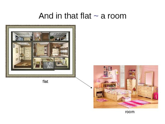And in that flat ~ a room flat room