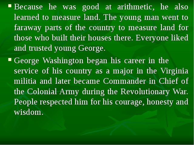 Because he was good at arithmetic, he also learned to measure land. The young...