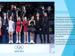 Skating Russia proved that it has some of the best figure skaters in the worl