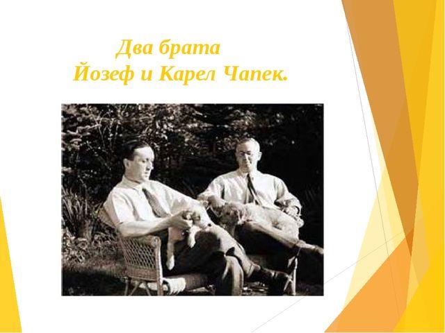 Два брата Йозеф и Карел Чапек.