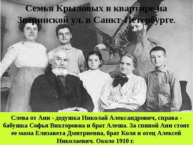Слева от Ани - дедушка Николай Александрович, справа - бабушка Софья Викторов...