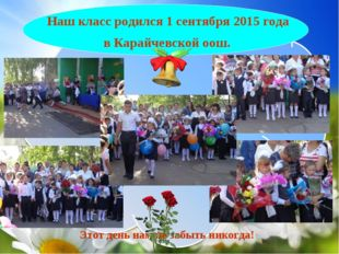 Наш класс родился 1 сентября 2015 года в Карайчевской оош. Этот день нам не з