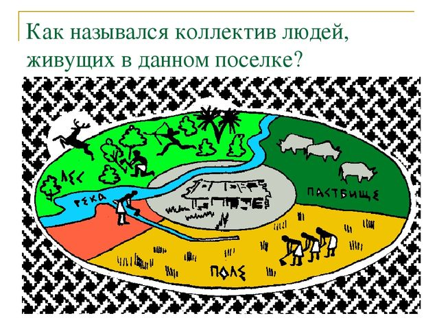 Как назывался коллектив людей, живущих в данном поселке?