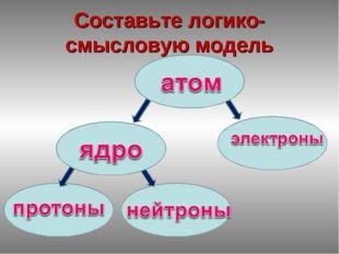 Составьте логико-смысловую модель