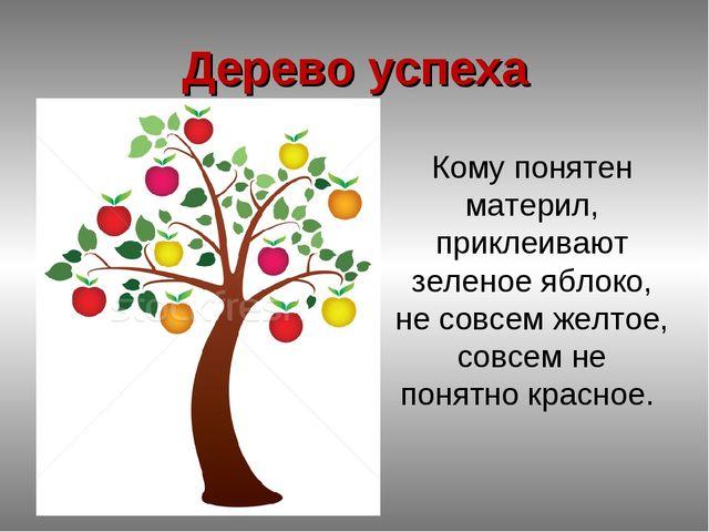 Дерево успеха Кому понятен материл, приклеивают зеленое яблоко, не совсем жел...