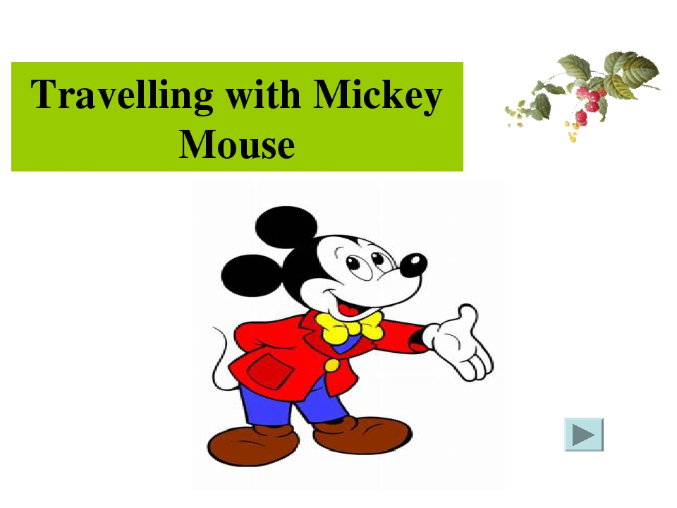 Travelling with Mickey Mouse