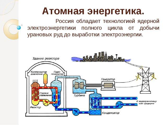Атомная энергетика. Россия обладает технологией ядерной электроэнергетики пол...