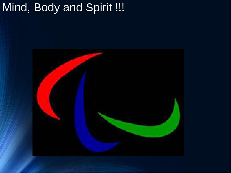 Mind, Body and Spirit !!!