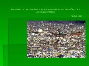 Человечество не погибнет в атомном кошмаре, оно захлебнется в мусорных отхода