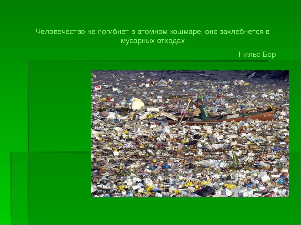 Человечество не погибнет в атомном кошмаре, оно захлебнется в мусорных отхода...
