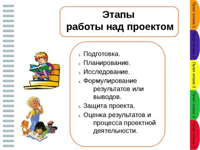 Классификация проектов Пункт плана 1 Пункт плана 2 Пункт плана 3 Пункт плана...