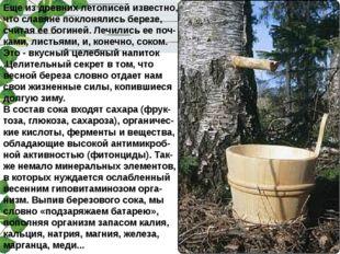 Еще из древних летописей известно, что славяне поклонялись березе, считая ее