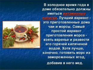 В холодное время года в доме обязательно должны иметься витаминные напитки. Л