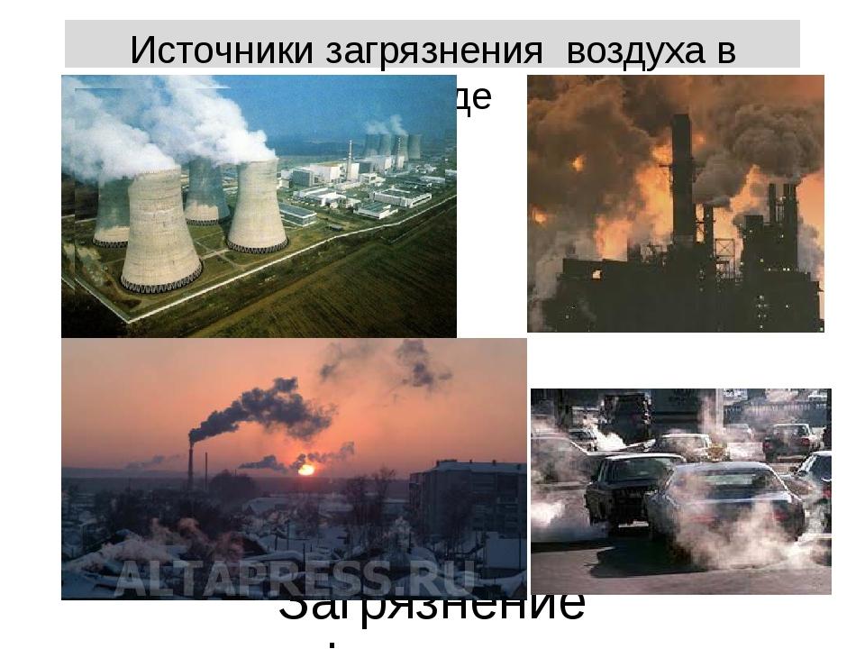 Источники загрязнения воздуха в городе Загрязнение атмосферы воздуха в городах