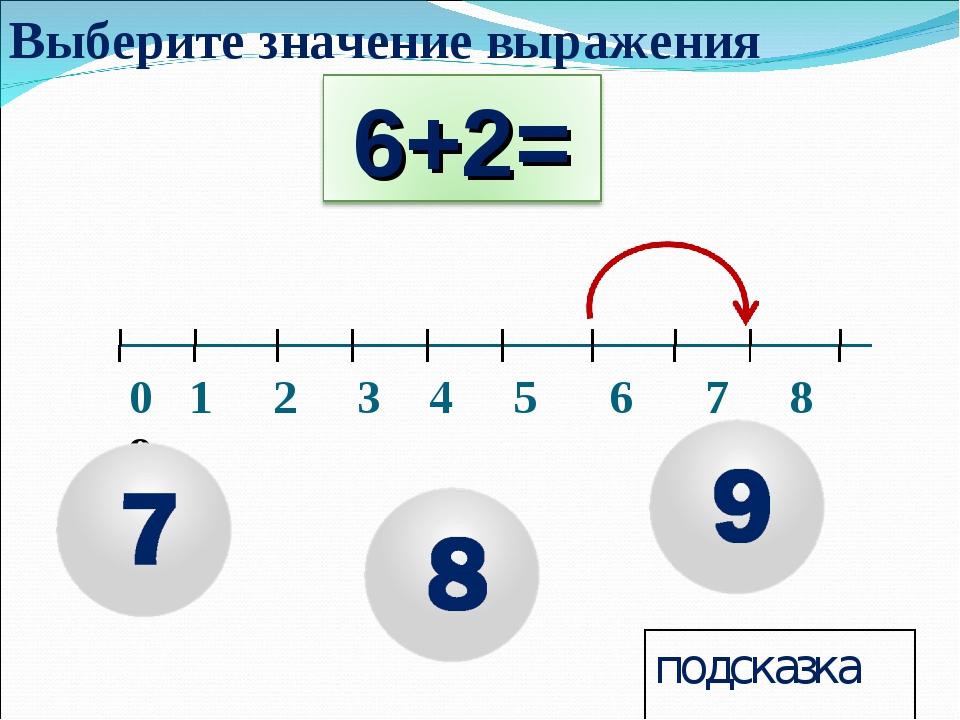 0 1 2 3 4 5 6 7 8 9 подсказка Выберите значение выражения