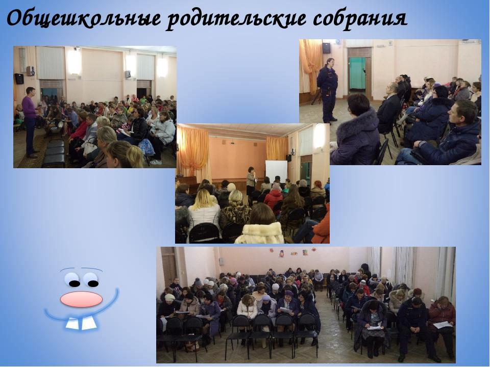 Общешкольные родительские собрания