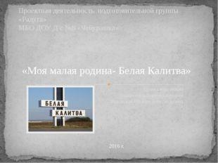 Проект подготовил Воспитатель первой категории Рыковская Наталья Александровн