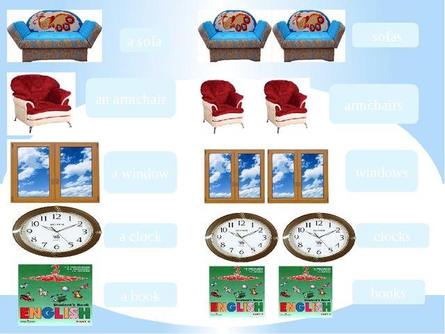 a sofa an armchair a window a clock a book sofas armchairs windows clocks books